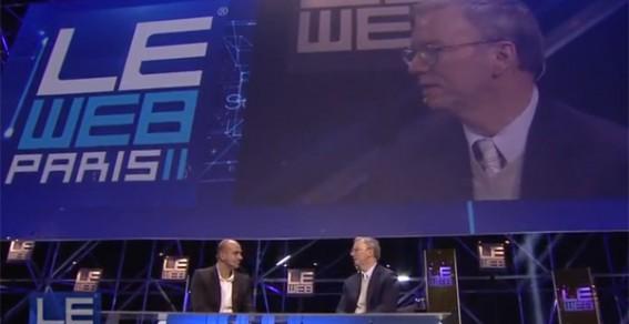 Le Web'11 - Eric Schmidt